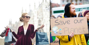 Conspicuous consumption vs environmental concern